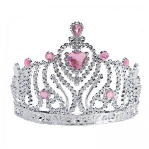 Prinses-Hart-Kroon-Tiara-Kinder-Verkleed-Accessoire